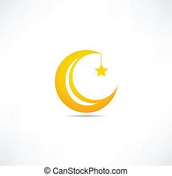 月亮, 星, 圖象