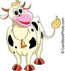 有斑點, 卡通, 母牛
