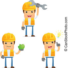 有趣, 建造者, 集合, 卡通