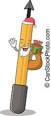 有, 聖誕節, snorkeling, 箭設計, 卡通, 禮物, 聖誕老人