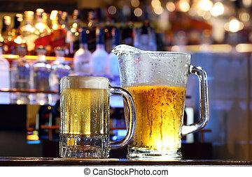 服務, 啤酒, 酒吧
