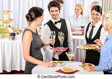 服務, 提供, 食物, 公司, 備辦, 事件