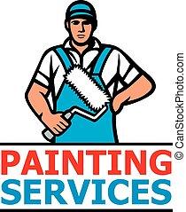 服務, 畫, 設計, 藏品, 專業人員, 染料滾輪, -, 畫家
