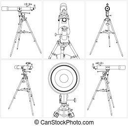望遠鏡, 三腳架