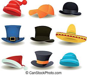 朝向 集合, 帽子, 頂部, 其他, 穿戴, 帽子