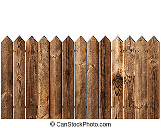 木制的柵欄