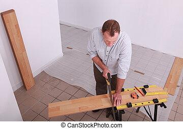 木制, 人放置, 地板
