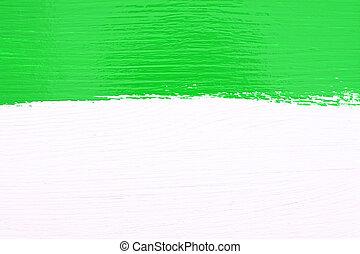木制, 在上方, 畫, 綠色的條紋, 背景, 白色