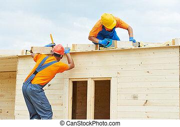 木制, 工作, 木匠, 屋頂