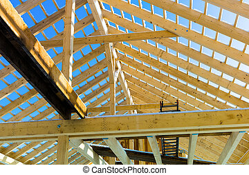 木制, 建設, 屋頂