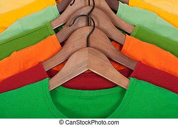 木制, 明亮, 吊架, t襯衫