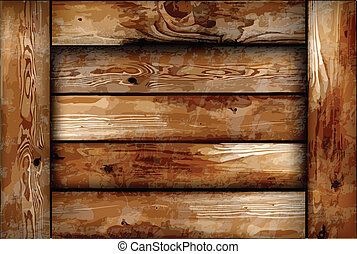 木制, 易碎, box., 矢量, 背景