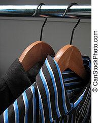 木制, 時髦, 吊架, 二, 襯衫