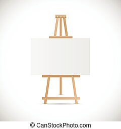 木制, 畫架, 插圖