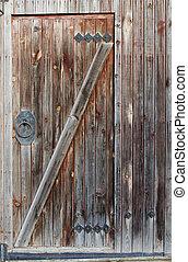 木制, 老, 門