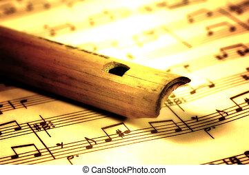 木制, 長笛