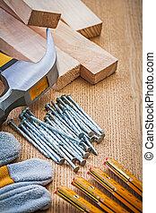 木制, 集合, 工具, 板, 木工工作