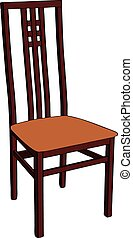 木制, chair.