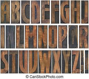 木制, cutout, 信件