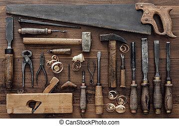 木材加工, 工作台, 葡萄酒, 工具