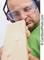 木製品, 檢查, -, linearity
