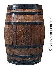 木製的桶, 老, 酒