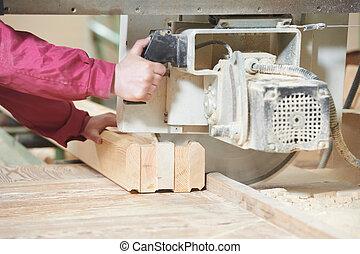 木頭, 切, 人物面部影像逼真, 產生雜種, 木工工作