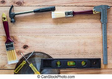 木頭, 工具, 木匠, 板
