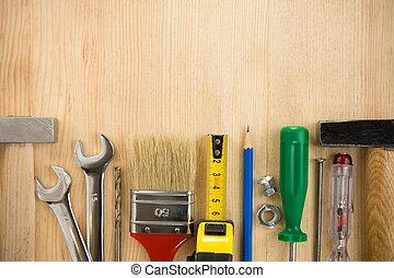 木頭, 工具, 板, 背景