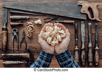 木頭, 木匠, 刨, 藏品