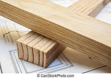 木頭, 松樹, 建設, 背景, 桌子, 板條