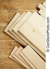 木頭, 板條