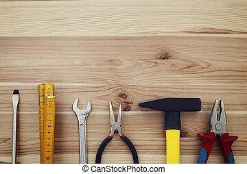 木頭, 模仿, 工作, 工具, 空間