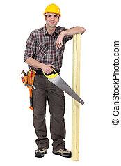 木頭, 站, 暫存工, 木匠
