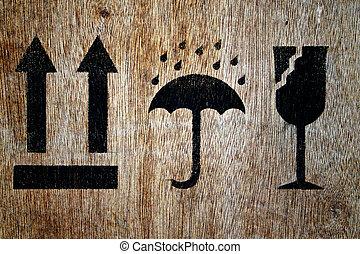 木頭, 符號, 易碎
