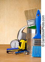 木頭, 集合, 工具