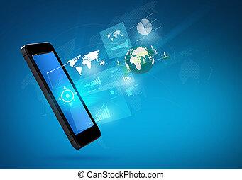 机動的交流, 現代的技術, 電話