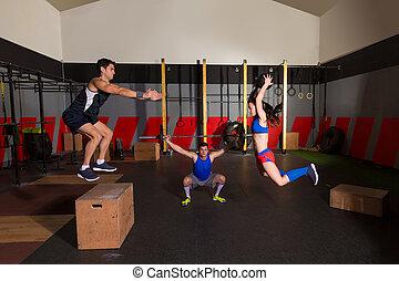 杠鈴, 組, 體操, 跳躍, 球, 衝擊, 測驗