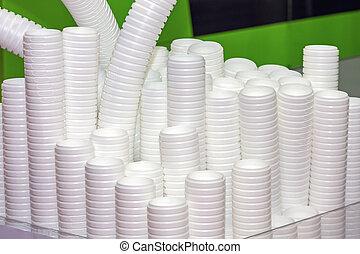杯子, 可處理, 塑料, 生產