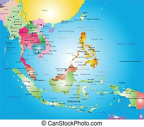 東南亞, 地圖
