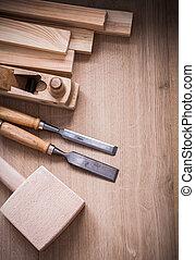 板, 工作, 向上, 木頭, 木制, 工具, 關閉, joinerâ??s, 組