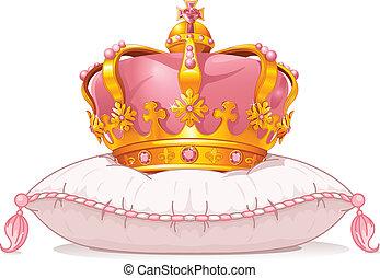 枕頭, 王冠