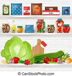 架子, 健康的食物, 設計, 美味, 你