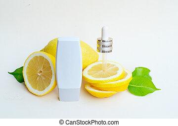 柑橘屬, 油, 血清, 關心, 維生素c, 水果, 美麗