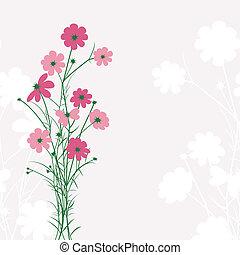 桃紅色 花, 背景, 春天, 鮮艷