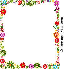 框架, 圖案, 邊框, 植物