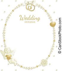 框架, 寶石, 婚禮