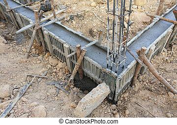 框架, 建設, 金屬, 房子, 增強