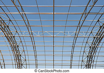 框架, 建設, 金屬, 背景