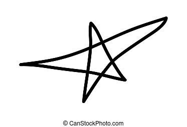 框架, 星, retro, 元素